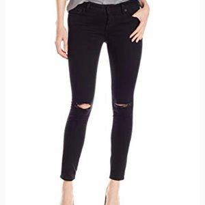 NWT Lucky Lolita Skinny Destructed Black Jeans